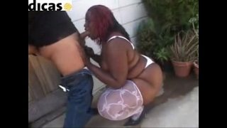 bbw ebony in white stockings gets fuck by hispanic