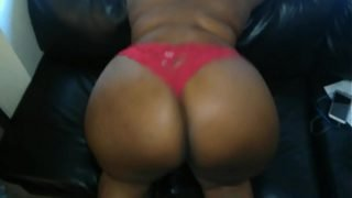 BBW huge wide ass in RED lingerie