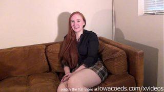 bbw redhead iowa college girl stripping down to her skivvies