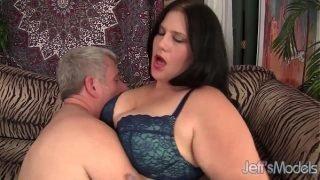 Beautiful BBW Becky Butterfly loves riding fat dicks.