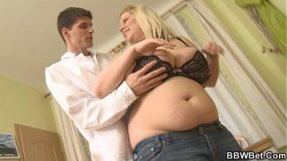 Busty fat girl skinny guy hot sex