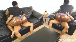 Ebony BBW Stepsister Riding and Grinding   Clip