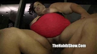 MILF BBW getting her pussy hammered by monster dick redzilla