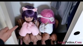 These asian furry pussies crawl to masters  dick dobule pussie fuck